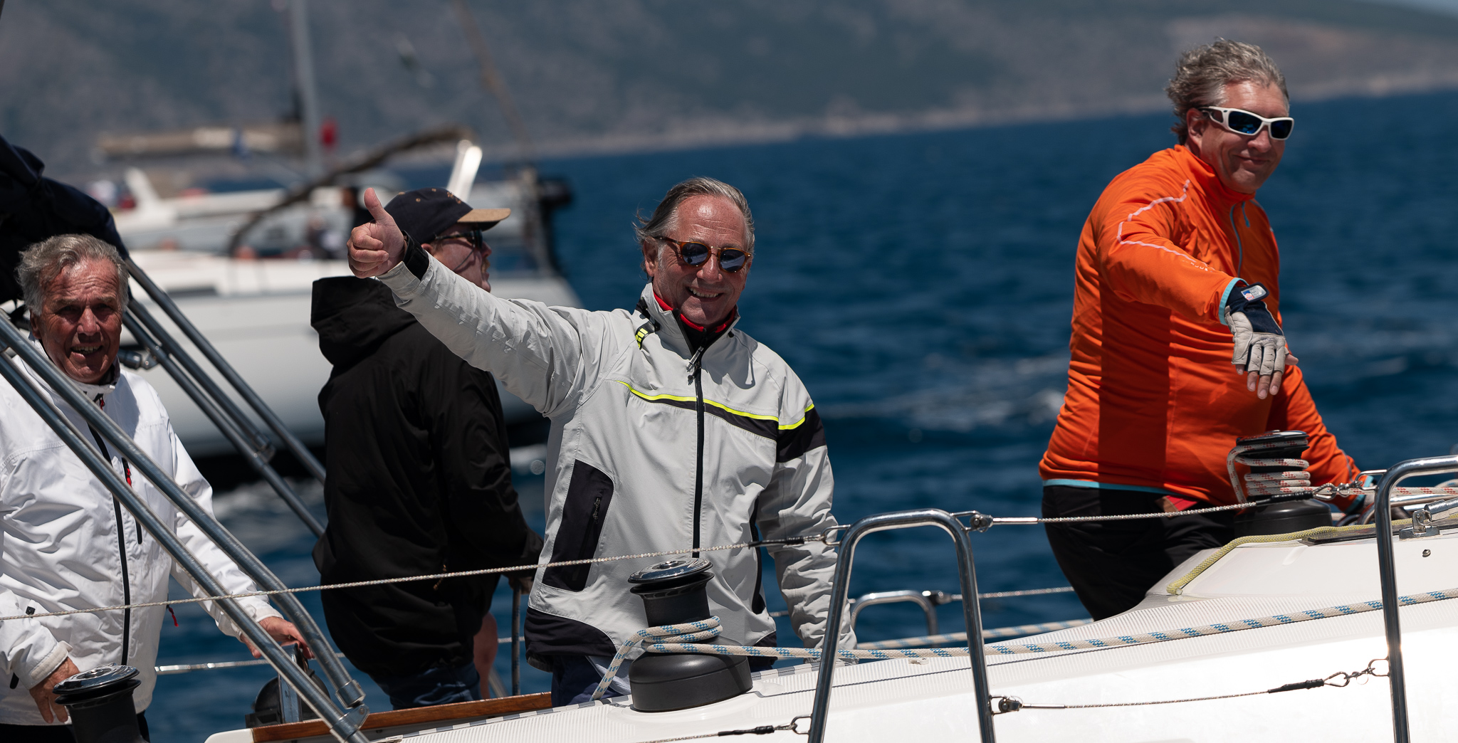Pieter Hadjidakis and the crew of Boat 70